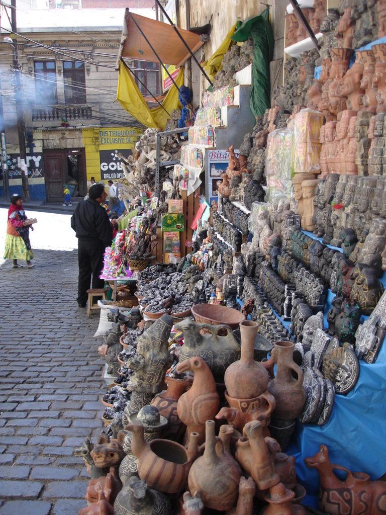 mercati caratteristici La Paz Bolivia Mercato stregoneria